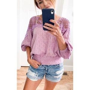 free people love lace sweater in purple
